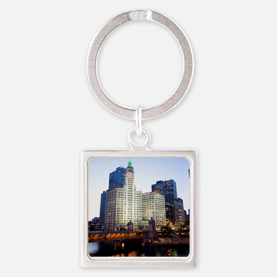1DS2-14-7042-CALENDAR Square Keychain