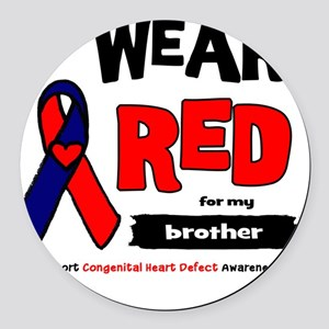 brother Round Car Magnet