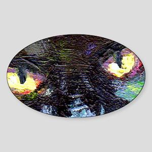 blackcat_eyesBIG Sticker (Oval)