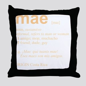 MAE_wht Throw Pillow