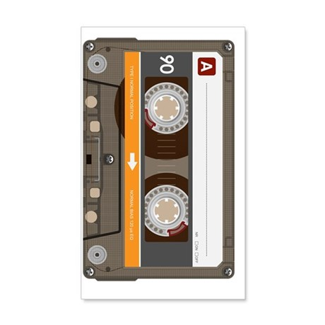 cassette tape vertical 20x12 Wall Decal