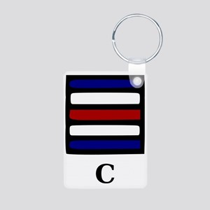 C Aluminum Photo Keychain