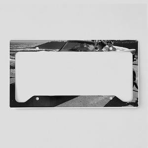Crown Vic Girls BW License Plate Holder