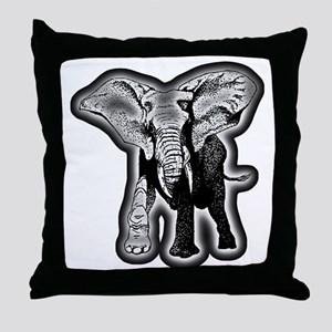 elephant-NEON-CROP Throw Pillow