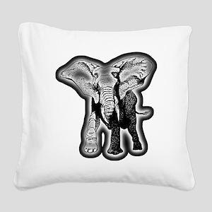 elephant-NEON-CROP Square Canvas Pillow