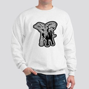 elephant-NEON-CROP Sweatshirt