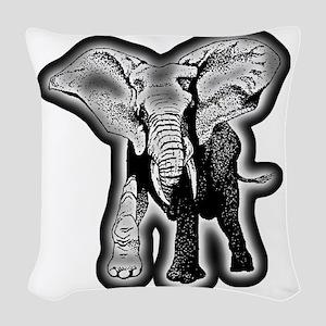 elephant-NEON-CROP Woven Throw Pillow