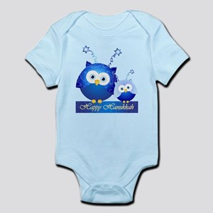 Happy Hanukkah Owls Body Suit