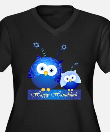 Happy Hanukkah Owls Plus Size T-Shirt