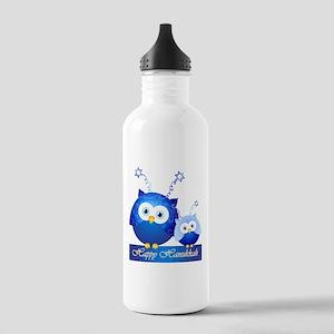 Happy Hanukkah Owls Water Bottle