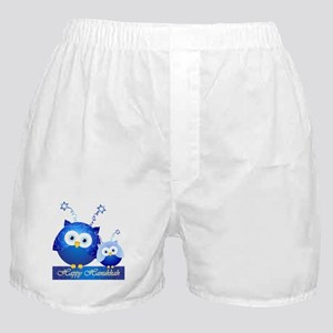 Happy Hanukkah Owls Boxer Shorts