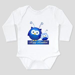 Happy Hanukkah Owls Body Suit