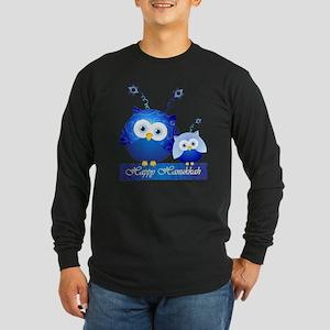 Happy Hanukkah Owls Long Sleeve T-Shirt