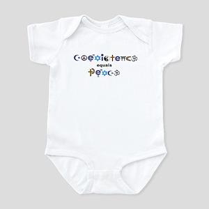 Coexistence = Peace Infant Bodysuit