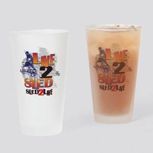 LIVE-2-RIDE-SLED-2-LIVE Drinking Glass