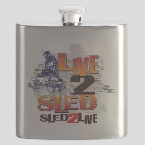 LIVE-2-RIDE-SLED-2-LIVE Flask