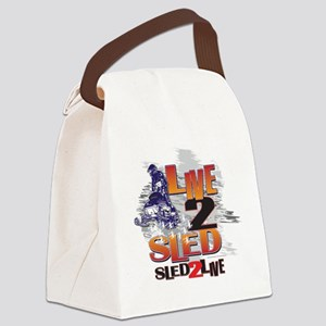 LIVE-2-RIDE-SLED-2-LIVE Canvas Lunch Bag