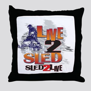 LIVE-2-RIDE-SLED-2-LIVE Throw Pillow