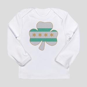 Irish Chicago flag shamrock Long Sleeve T-Shirt