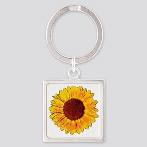 Sunflower Square Keychain