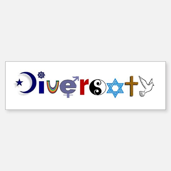 Diversity Bumper Car Car Sticker