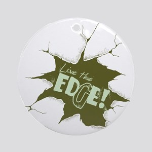 olive drab Round Ornament