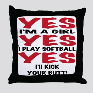 yes yes yes Throw Pillow