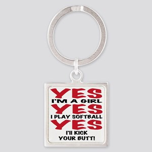 yes yes yes Square Keychain