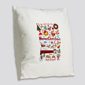 Christmas Burlap Throw Pillow