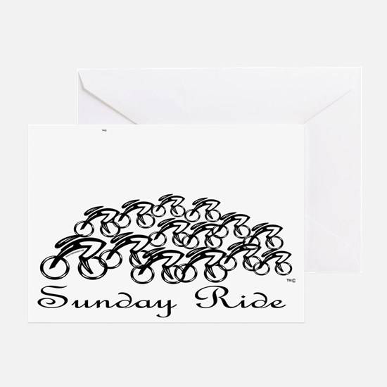 PelotonSUNDAY RIDE Greeting Card
