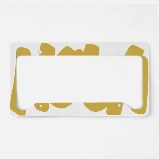 NOLA Brushed Gold License Plate Holder