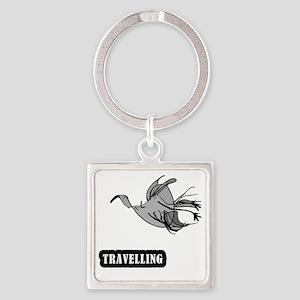bird_travelling Square Keychain