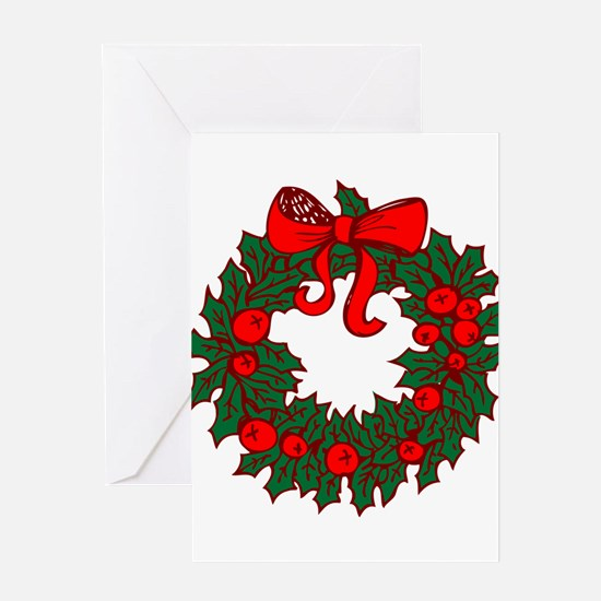 Christmas Wreath Greeting Cards