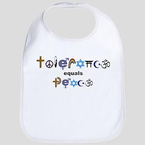 Tolerance = Peace Bib
