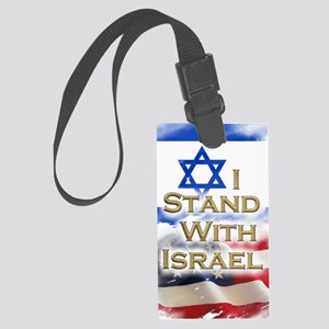 I stand with Israel 001 Large Luggage Tag
