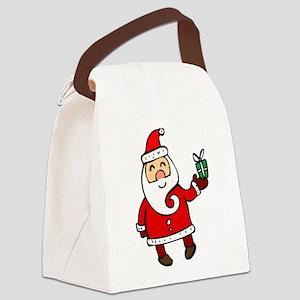 Santa Canvas Lunch Bag