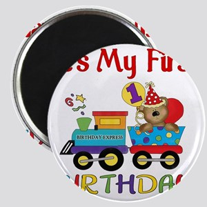 first birthday train Magnet