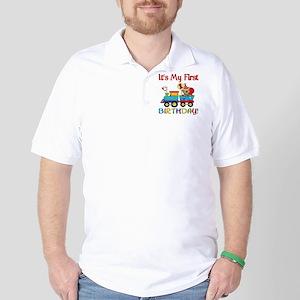 first birthday train Golf Shirt