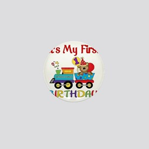 first birthday train Mini Button