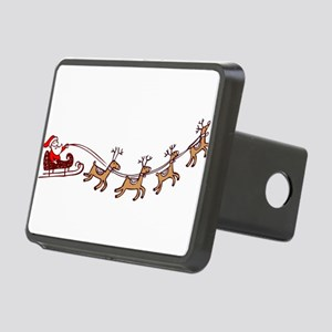 Santa in his Sleigh Hitch Cover