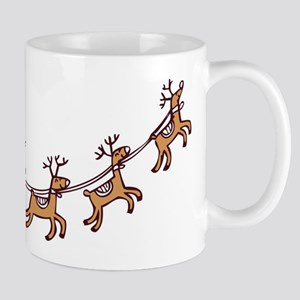 Santa in his Sleigh Mugs