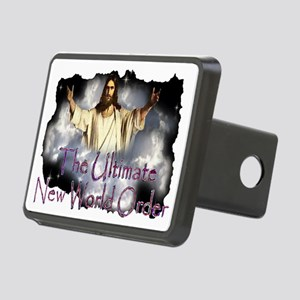 Jesuscominwiththeclouds2te Rectangular Hitch Cover