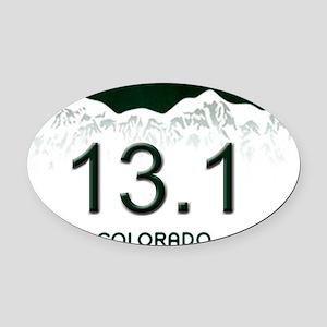 Half Marathon - 5x3 - Oval Oval Car Magnet