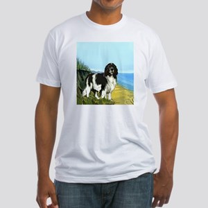 landseer on the beach Fitted T-Shirt