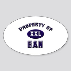 Property of ean Oval Sticker