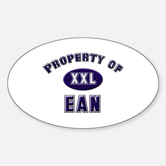 Property of ean Oval Decal