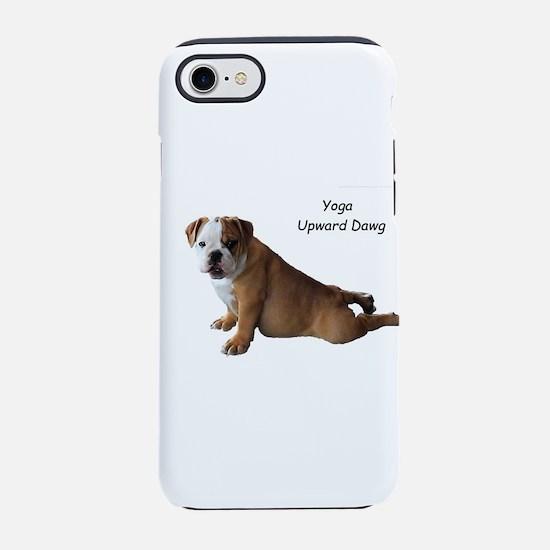 Bulldog in yoga pose iPhone 7 Tough Case