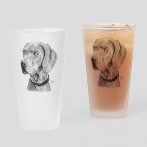 Weimaraner3 Drinking Glass