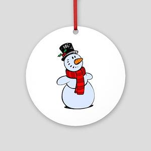 Snowman Ornament (Round)