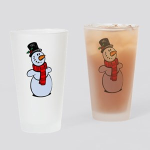 Snowman Drinking Glass